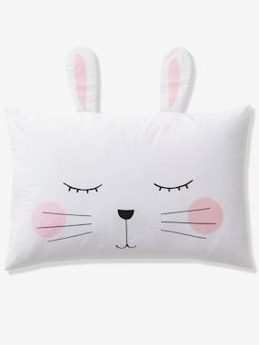 Bedding & Decor-Baby Bedding-Pillowcase for Babies, Pink Bunny Theme