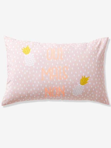 Children's Duvet Cover + Pillowcase Set PINK LIGHT ALL OVER PRINTED - vertbaudet enfant