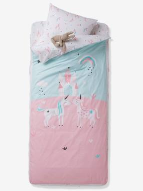 Bedding-Child's Bedding-Duvet Covers-Ready-for-Bed Set with Duvet, Magic Unicorns Theme