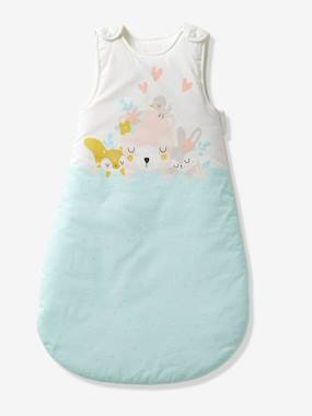 Vertbaudet Sale-Sleeveless Baby Sleep Bag, Love in the Forest Theme