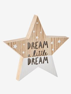 Vertbaudet Collection-Decoration-Wooden Light-Up Star