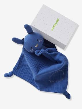 Toys-Cuddly Toys & Rattles-Gift Box with Baby Comforter + Rattle, in Fabric