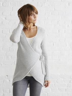 Maternity-Cardigan, sweater-Maternity Loungewear Knit Cardigan