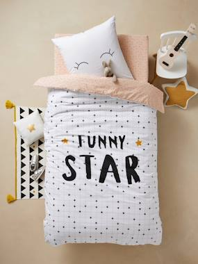 Vertbaudet Collection-Bedding-Children's Duvet Cover and Pillowcase Set, FUNNY STAR