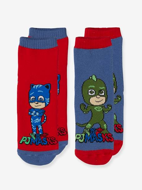 Pack of 2 Pairs of PJ Masks® Socks RED MEDIUM SOLID WITH DESIG - vertbaudet enfant