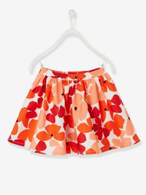 Festive favourite-Girls-Full Circle Skirt with Poppy Print for Girls