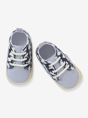 Vertbaudet Collection-Shoes-Lace-Up Pram Shoes for Baby Boys