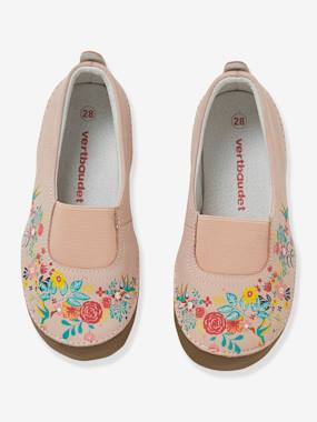 Vertbaudet Collection-Shoes-Elasticated Leather Shoes for Girls