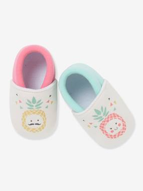 Shoes-Baby Footwear-Slippers & Booties-Elasticated Pram Shoes for Baby Girls