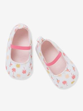 Vertbaudet Collection-Shoes-Ballerina Pram Shoes for Baby Girls