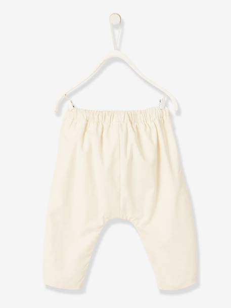 Occasion Wear Harem-Style Trousers for Newborn Babies WHITE MEDIUM SOLID - vertbaudet enfant