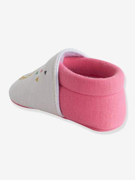 Elasticated Pram Shoes for Baby Girls WHITE MEDIUM 2 COLOR/MULTICOL - vertbaudet enfant