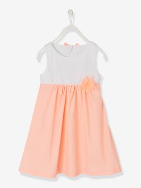 Festive favourite-Girls-Two-Tone Dress with Fancy Details for Girls