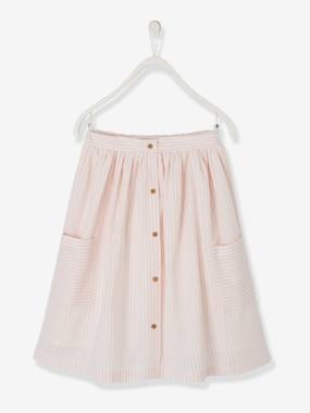 Girls-Skirts-Long Striped Skirt for Girls