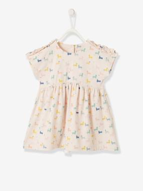 Baby-Dresses & Skirts-Dress with Llama Print for Baby Girls