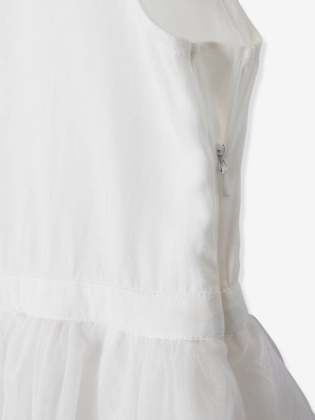 2-in-1 Occasion Wear Dress with Top in Broderie Anglaise WHITE LIGHT SOLID - vertbaudet enfant