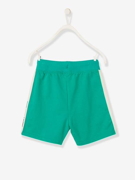 Sports Bermuda Shorts, Side Stripe, for Boys BLUE DARK SOLID WITH DESIGN+GREEN MEDIUM SOLID WITH DESIG+RED MEDIUM SOLID WITH DESIG - vertbaudet enfant
