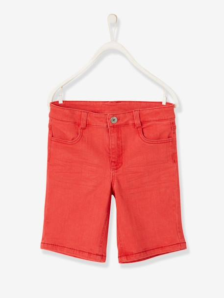 Bermuda Shorts for Boys BEIGE MEDIUM SOLID+BLUE DARK SOLID+BLUE MEDIUM SOLID+RED DARK SOLID+YELLOW DARK SOLID - vertbaudet enfant