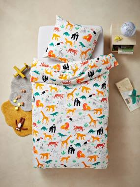 Mid season sale-Bedding-Child's Bedding-Duvet Covers-Duvet Cover + Pillowcase Set, JUNGLE SPIRIT Theme