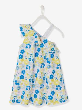 Festive favourite-Girls-Asymmetric Dress with Print, for Girls