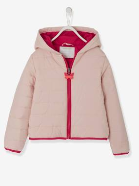 Vertbaudet Sale-Girls-Fun Jacket with Backpack, for Girls