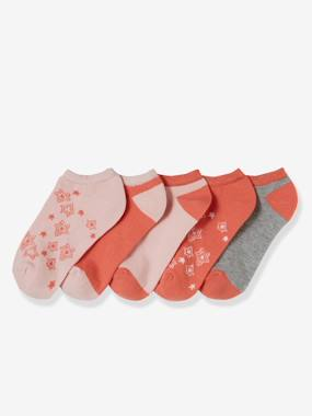Girls-Sportswear-Pack of 5 Pairs of Quarter Socks for Girls