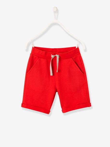 différemment 7c8d5 6b6ef Bermuda garçon en molleton - rouge, Garçon