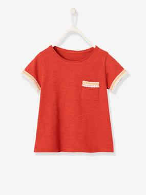 Girls-Tops-T-Shirt for Girls with Macramé Details