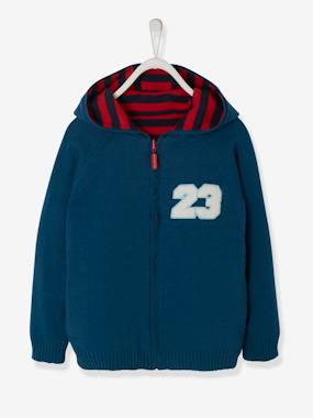 Boys-Cardigans, Jumpers & Sweatshirts-Cardigans-Boys' Reversible Knitted Cardigan