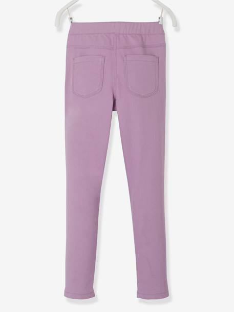 Girls' Plain Treggings BLUE LIGHT SOLID+Light blue+Light yellow+Pink+PINK BRIGHT SOLID+PURPLE LIGHT SOLID+WHITE LIGHT SOLID+YELLOW BRIGHT SOLID+YELLOW DARK SOLID - vertbaudet enfant