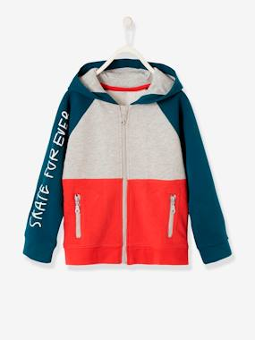 Summer collection-Boys-Cardigans, Jumpers & Sweatshirts-Colour Block Jacket with Zip for Boys