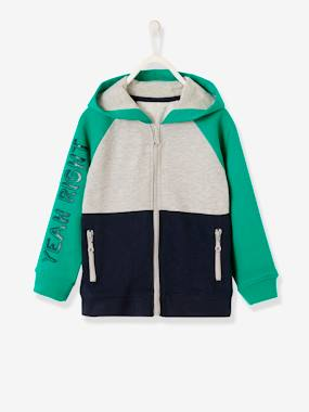 Summer collection-Boys-Colour Block Jacket with Zip for Boys