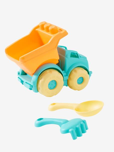 Lorry with Accessories for the Beach BLUE MEDIUM SOLID WITH DESIGN - vertbaudet enfant