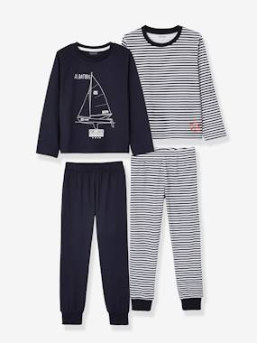 Vertbaudet Sale-Pack of 2 Mix & Match Pyjamas for Boys