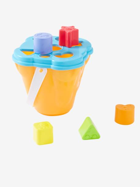 Sand Bucket Shape Sorting Box YELLOW MEDIUM SOLID WTH DESIGN - vertbaudet enfant