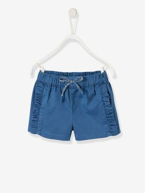 Baby-Shorts-Shorts with Small Ruffles for Baby Girls