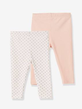 Baby-Leggings -Baby Girls' Pack of 2 Long Leggings