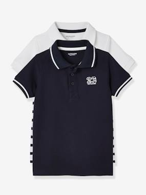 New collection preview-Boys-Pack of 2 Piqué Knit Polo Shirts for Boys