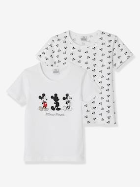 Boys-Underwear-Pack of 2 Short-Sleeved Mickey® T-Shirts