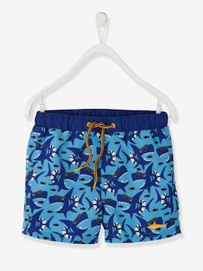 Boys-Swim & Beachwear-Swim Shorts with Fun Sharks for Boys