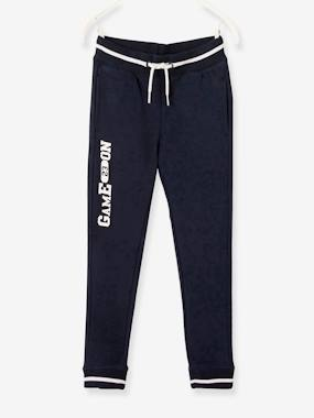 Nouvelle collection Vertbaudet-Pantalon sport garçon en molleton