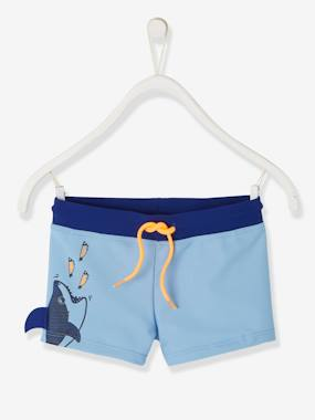Boys-Swim & Beachwear-Swim Shorts with Fun Shark, for Boys