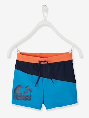 Boys-Swim & Beachwear-Three-tone Swim Shorts, for Boys