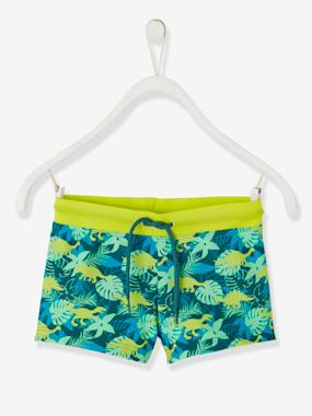 Boys-Swim & Beachwear-Swim Shorts with Exotic Motif, for Boys
