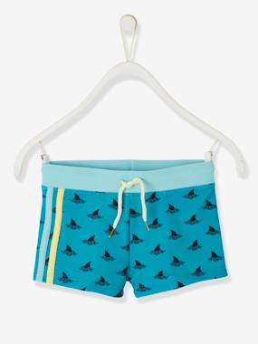 Swimwear-Swim Shorts with Sharks for Boys