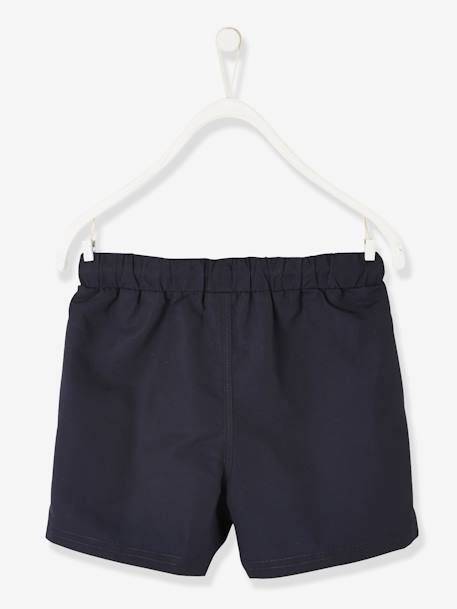 Swim Shorts with Flag for Boys BLUE DARK SOLID WITH DESIGN - vertbaudet enfant