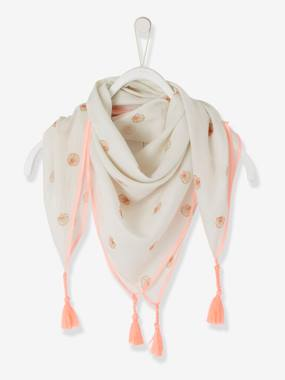 Girls-Accessories-Lightweight Scarves-Scarf with Tassels & Shells for Girls