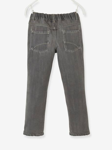 Boys Indestructible Straight-Cut Jeans BLUE BRIGHT SOLID+GREY MEDIUM WASCHED - vertbaudet enfant