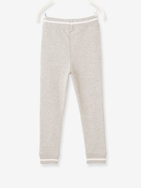 Fleece Joggers for Boys BLUE DARK SOLID WITH DESIGN+GREY LIGHT MIXED COLOR+RED MEDIUM SOLID WITH DESIG - vertbaudet enfant