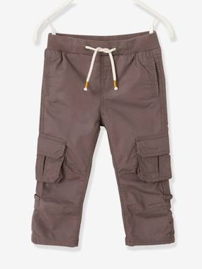 Short & Bermuda - Vertbaudet Fashion specialist for kids and baby : clothing, shoes and accessories-Cropped Cargo Trousers for Boys, Raise up to Bermuda Shorts